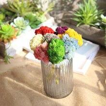 Hot selling soft glue 3 Head rubber rice fruit hydrangea fake flower feel succulent wholesale