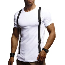 Men Cotton O-Neck Short Sleeve T-Shirt Fitness Slim T-Shirts Male Brand Gyms Tees Tops Summer Breathable Fashion Casual Clothing цены
