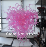 C59 Free Shipping Heart Shaped Pink Glass Unique Chandelier