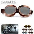 Moda 2016 de alta qualidade Marca New fresco Retro Harley capacete da motocicleta óculos de proteção óculos de Proteção UV Óculos óculos de lente