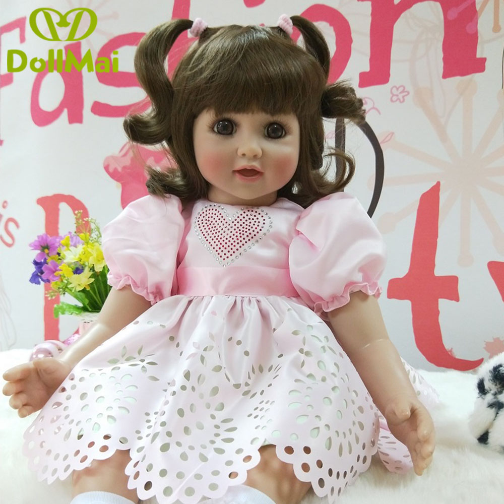60cm vinyl Silicone Reborn Baby Doll Toys 24inch Toddler Princess Girl real baby poupee reborn Kids Birthday Gift brinquedo 60cm vinyl Silicone Reborn Baby Doll Toys 24inch Toddler Princess Girl real baby poupee reborn Kids Birthday Gift brinquedo