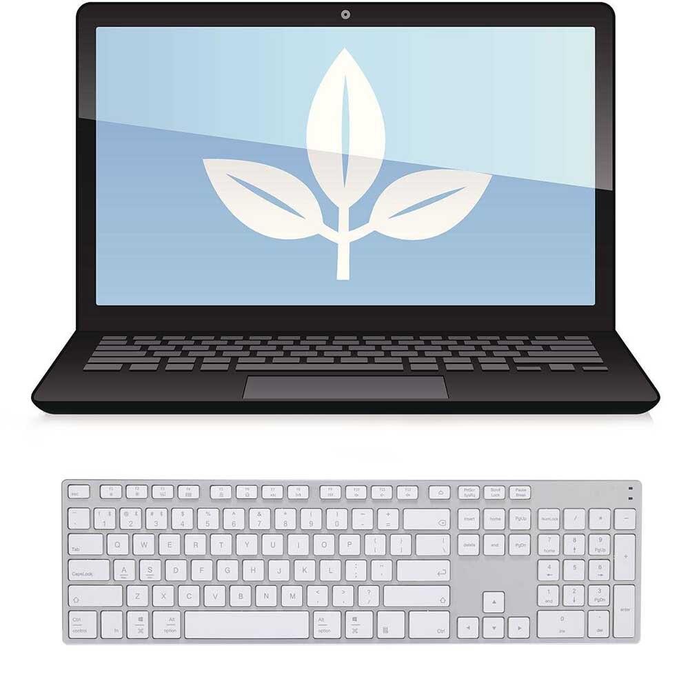 Nouveau clavier en alliage d'aluminium sans fil Bluetooth 3.0 pour tablette Support de téléphone portable iOS Windows système 8