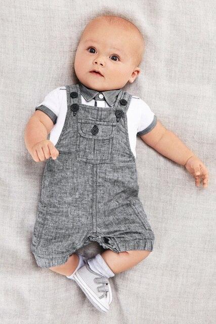 a52e433fa 2019 nueva llegada bebé niño conjunto de ropa de caballero ropa de recién  nacido para niños
