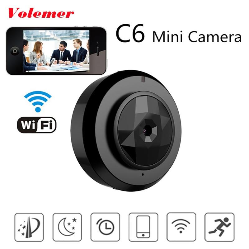 Volemer Camsoy C6 mini camara wifi With Smartphone App Video Recording IP Micro camcorder Motion Dtection P2P Car DVR Mini Cam smartphone