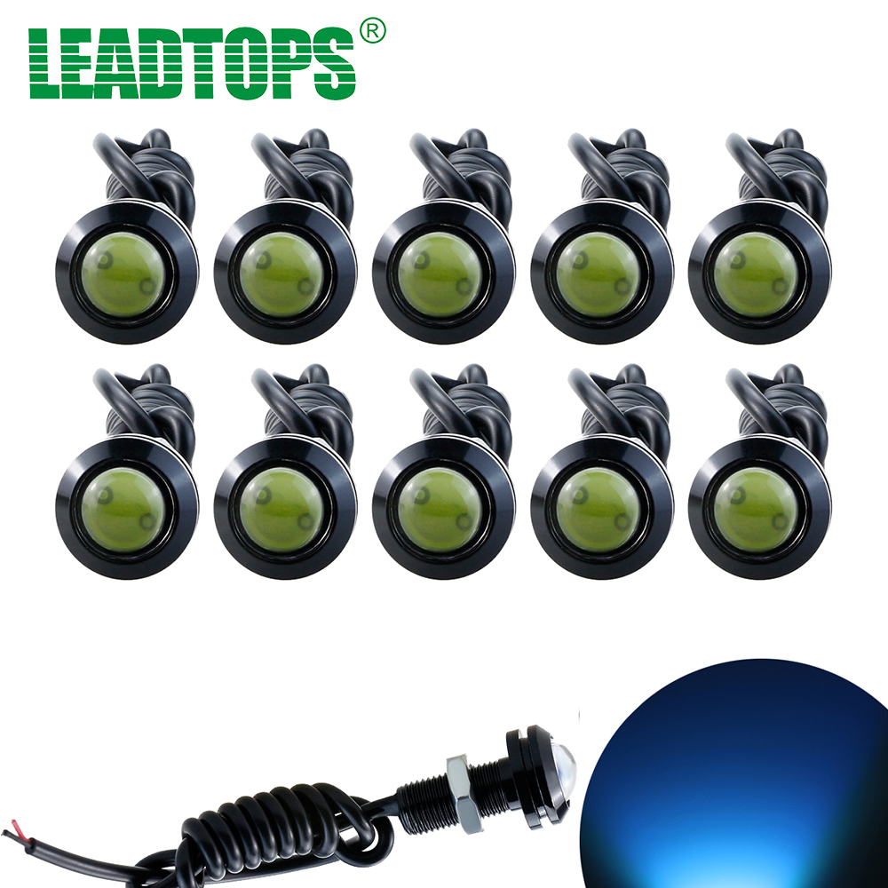 10pcs High Brightness DRL 18mm Eagle Eyes Daytime Running Lights LED Car Work Source Waterproof Parking Lamp Styling CE