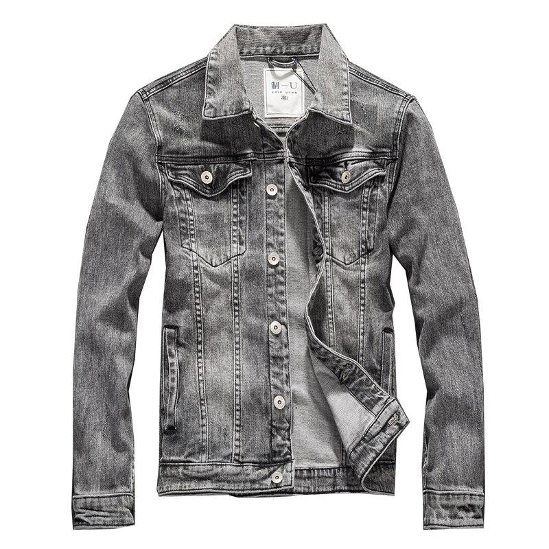 Automne Hommes Vestes Denim Hiver Mâle Jeans Vestes Hommes Bomber Veste Vintage Bleu Outwear Manteau Et Vestes Pour Hommes