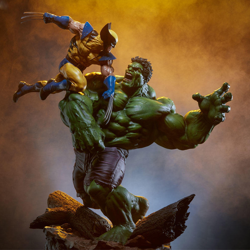 Marvel Superhero X-Men Hulk Vs Wolverine 1/6 Scale Statue Collectible Action Figure Model Painted PVC Toys Gifts For Children