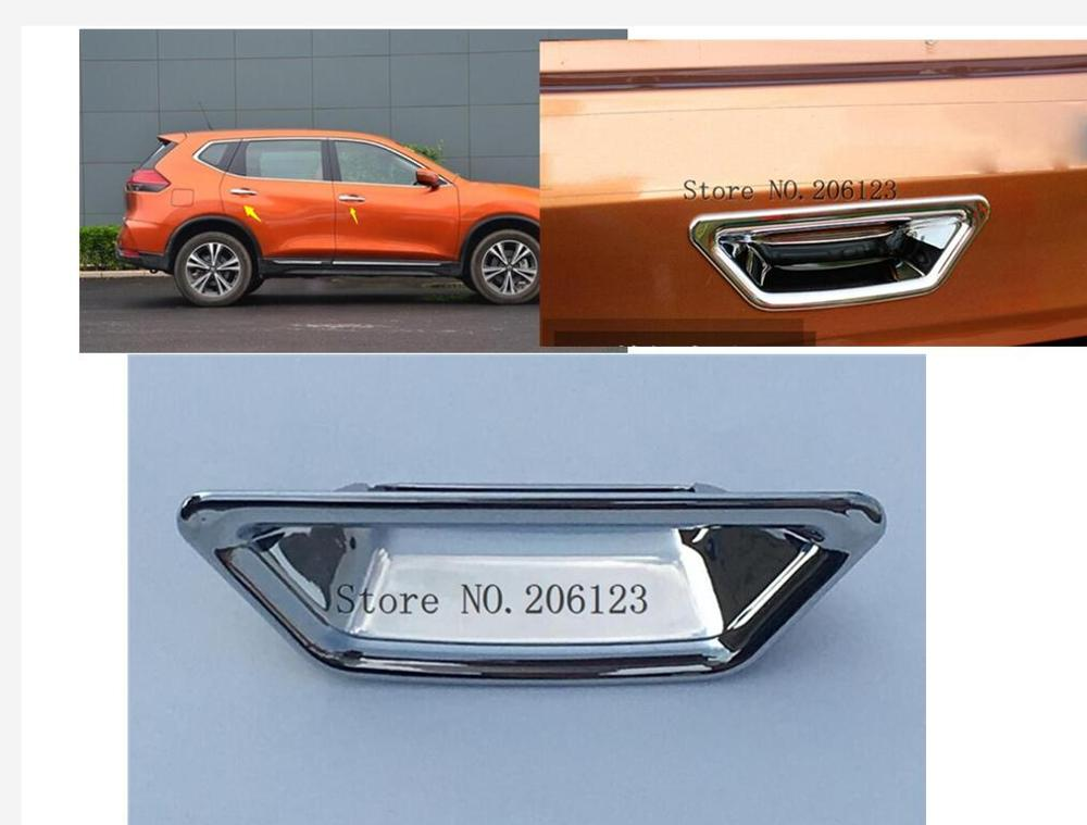 Rear Tail Door Bowl Trim Chrome Cover Sticker For Nissan X TRAIL X-trail Xtrail Rogue T32 2014 To 2018 Rear Door Bow Styling
