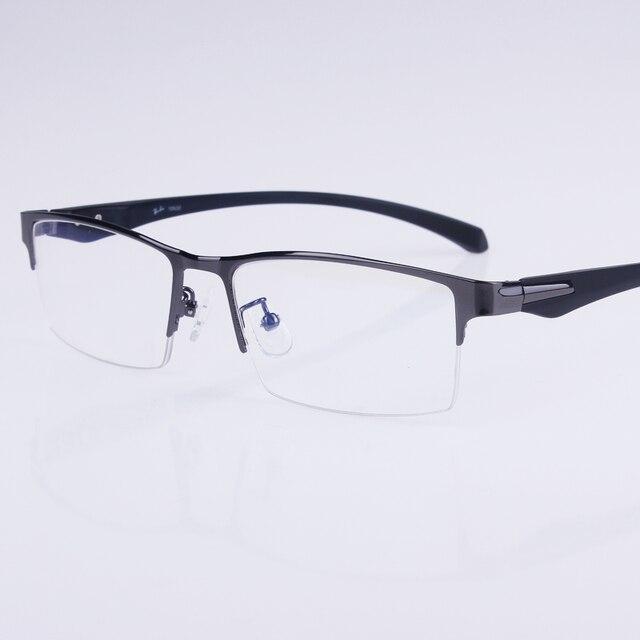 Горячие продажа freeshipping твердые мужчины сплава оптические оправы для очков мужские дизайнерские очки Половина коробка оптики Большие оправе R002