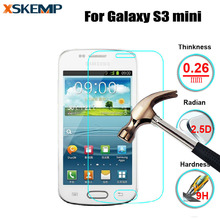 Premium 9H 0.26MM Toughened Tempered Glass For Samsung Galaxy S3mini 8190 Screen Protector No Fingerprint Protective Guard Film