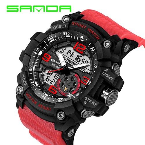 SANDA 759 Sports Men's Watches Top Brand Luxury Military Quartz Watch Men Waterproof S Shock Wristwatches relogio masculino 2019 |