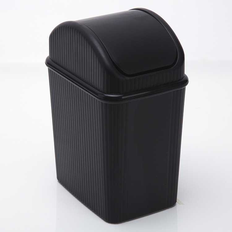 gwt mini desk top rocking cover garbage bin plastic household garbage can