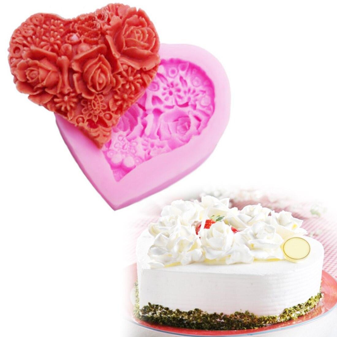 1pc Mini flor de silicona Fondant Cake Decorating Cake Cake Moldes DIY hornear
