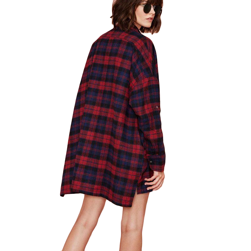fc36f0711f7 Oversized Plaid Shirt Plus Size - BCD Tofu House
