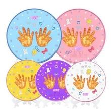 От 1 до 3 лет, для малышей и младенцев, ручная печать, грязевая фоторамка, сенсорный чернильный коврик, Сувенирный набор, инновационный памятный подарок KYY8630