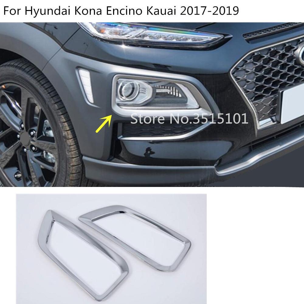 Tomefon For Hyundai Kona Encino 2018 2019 Abs Chrome Front: Aliexpress.com : Buy Car Body Head Front Fog Light Lamp