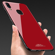 Tempered Glass Case for Vivo X21 X 21 Hard Back Cover Soft TPU Silicone Bumper On For phone VIVOX21 6.28