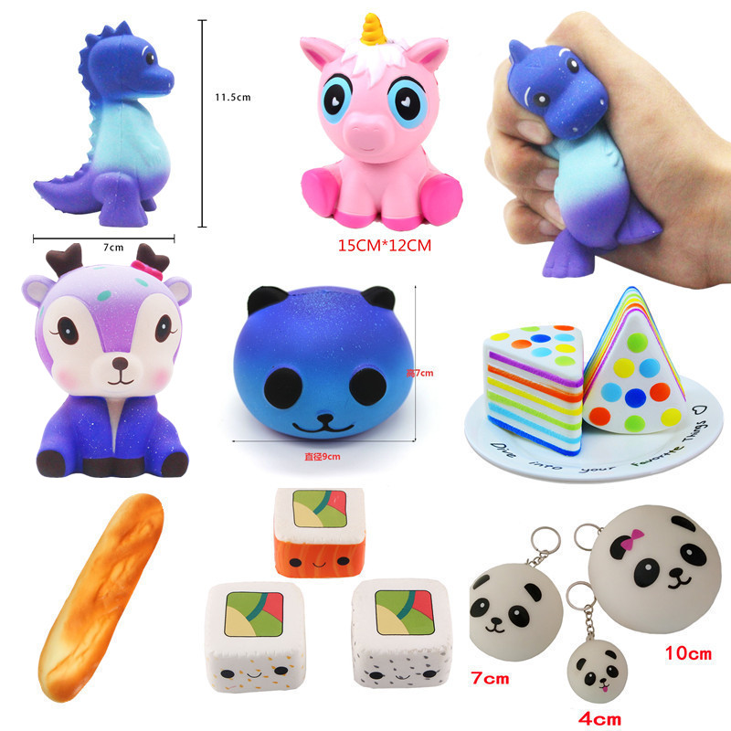 Zuczug New Jumbo Squishy Slow Rising Dinosaur Unicorn Bread Sushi Fawn Panda Antistrss Toy Squishies Stress Mobile Phone Straps Easy And Simple To Handle