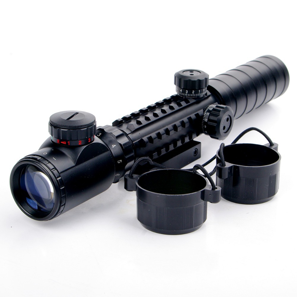 font b Rangefinder b font Reticle Shotgun Air Hunting Rifle Scope With Lens Cover New