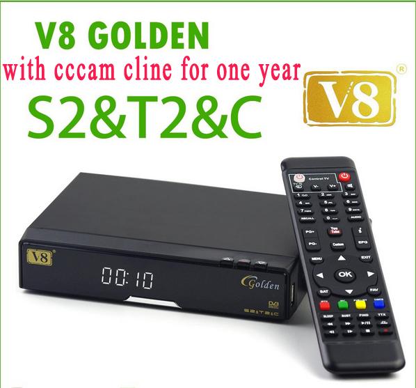 Prix pour Meilleur cccam serveur V8 Or COMBO décodeur Satellite TV turner dvb t2 récepteur satellite dvb-s2 avec un an de l'europe cccam cline