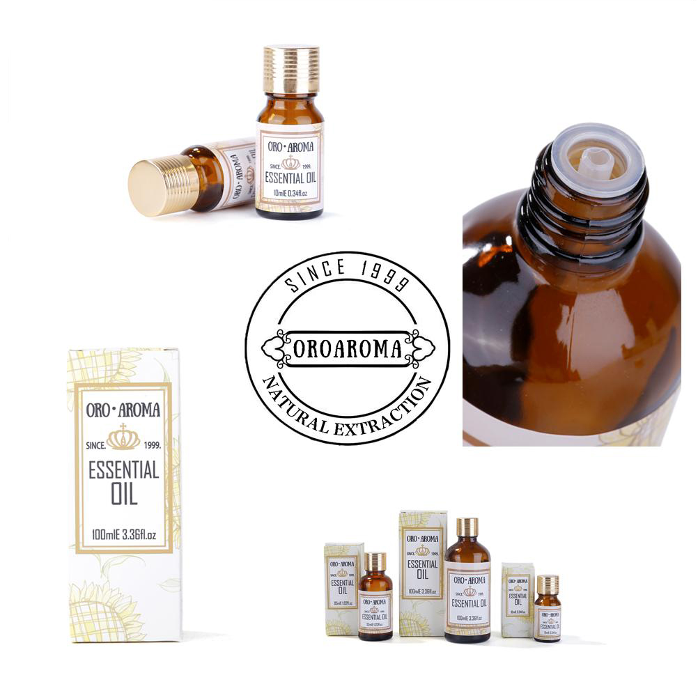 Famous Brand Oroaroma Musk Sandalwood Patchouli Tea Tree Essential Oils Pack For Aromatherapy, Massage,Spa Bath 10ml*4