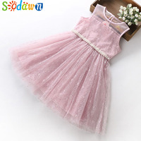 Sodawn 2018 Girls Dress Summer New Sleeveless Lace Party Princess Dress Girls Teenage Girls Clothing Baby