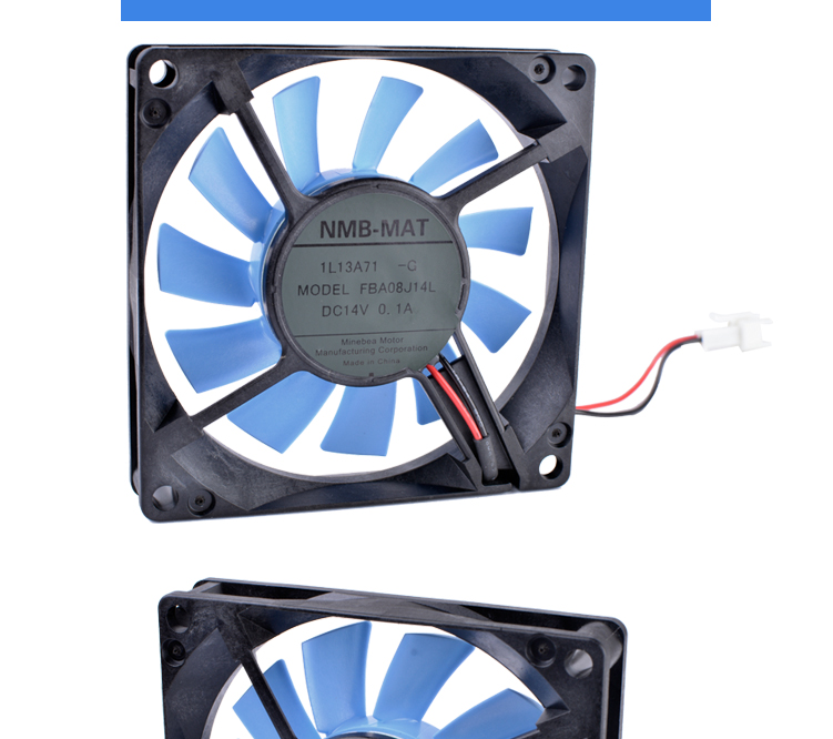 FBA08J14L 14V 0.10A 8cm 8015 80mm fan 80x80x15mm Refrigerator cooling fan Computer power CPU ultra-quiet fan