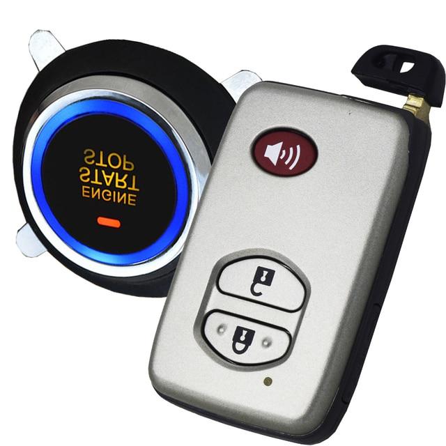 Car Security Alarm With Auto Start Stop Button Keypad Emergency Lock Or Unlock  Car Door Keyless