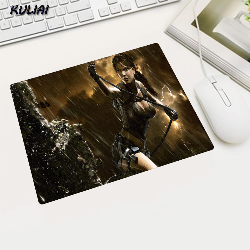 KULIAI Rubber Game Wallpaper Mouse Pad 22X18 25X20 29X25 CM Non-slip Player Tomb Raider Gaming Laptop Pc Mause for Bioshock Mats