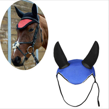 Horse Ear Cover Breathable Meshed Horse Riding Reflector Outdoor Equestrian Horse Equipment Horse Racing Net Ear Protector
