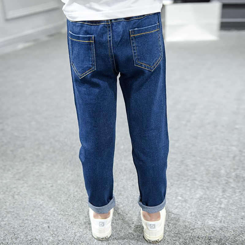 Kız Pantolon Kot 2019 Sonbahar çocuk Giysileri Bebek Kız Katı Kalem Pantolon Kot Tayt Çocuk Koyu Mavi Tasarımcısı Giyim