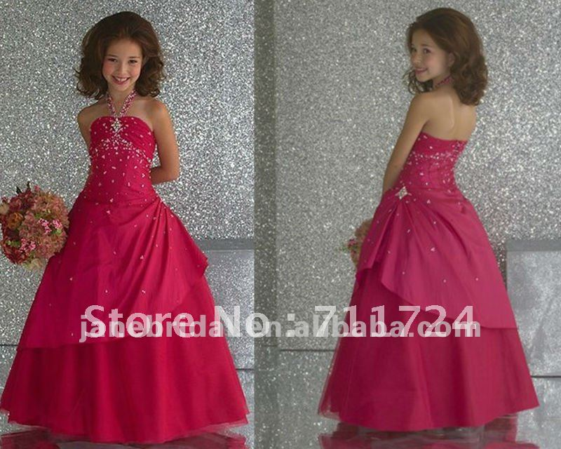 Halter Hot Pink Kids Dresses For Weddings In Wedding Dresses From Weddings  U0026 Events On Aliexpress.com | Alibaba Group