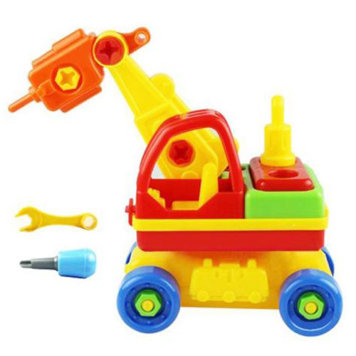MACH Child Baby Disassembly Assembly Cartoon Car Toy Kids Xmas Gift New Model:Driller