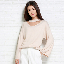 adohon 2016 womens winter Cashmere sweaters and auntmun women High Quality Warm Female thickening Vneck Pullovers Solid Casual