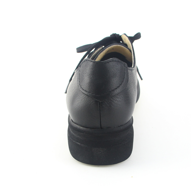 Véritable Mocassins Ohanna Black Femmes Mvvjke A051 Femme En Lace Automne De Noir Cuir 2017 brown Plat Up Printemps Chaussures 1qx7vf