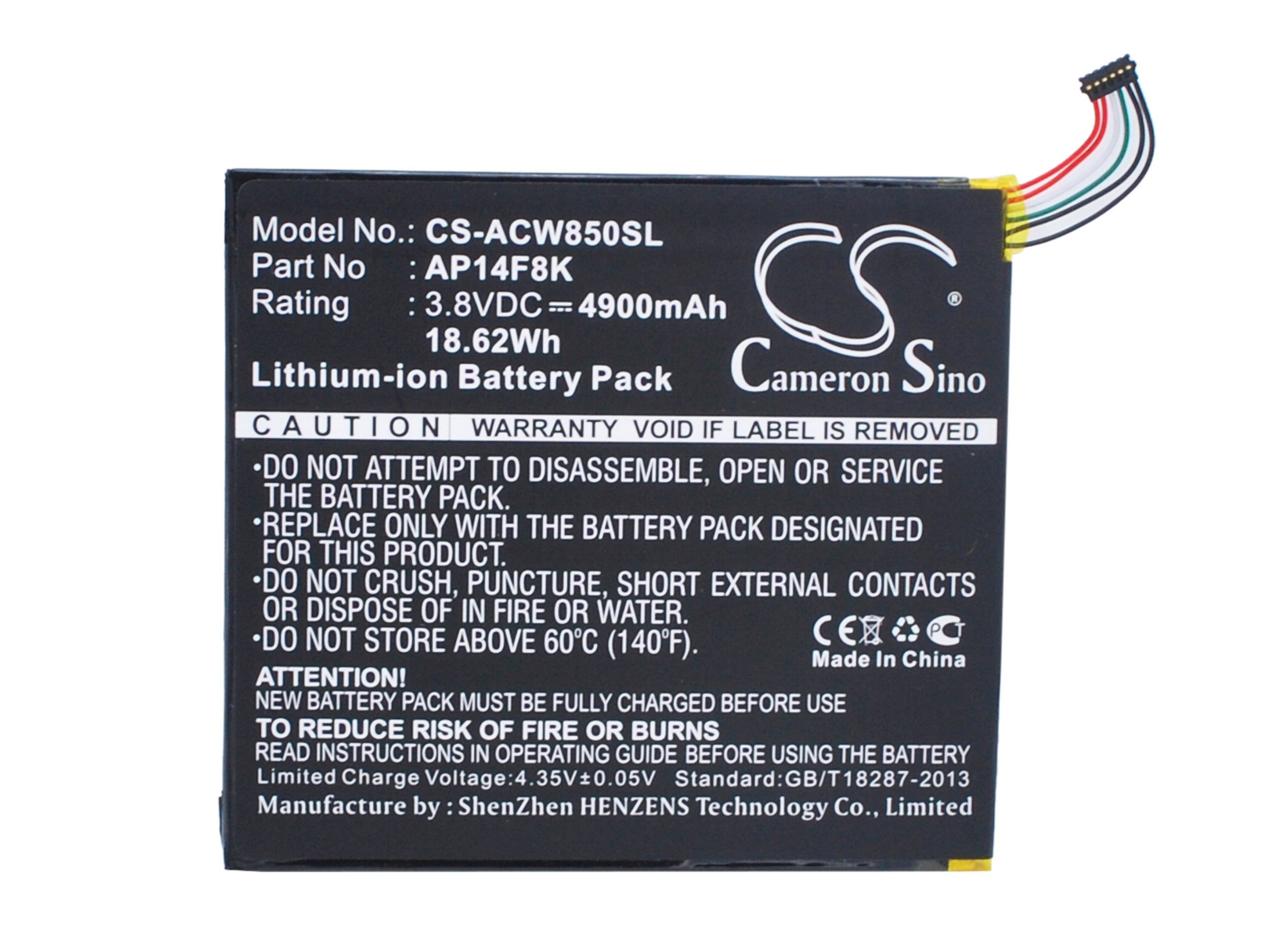 OEM ACER ICONIA ONE 8 B1 810 REPLACEMENT  BATTERY