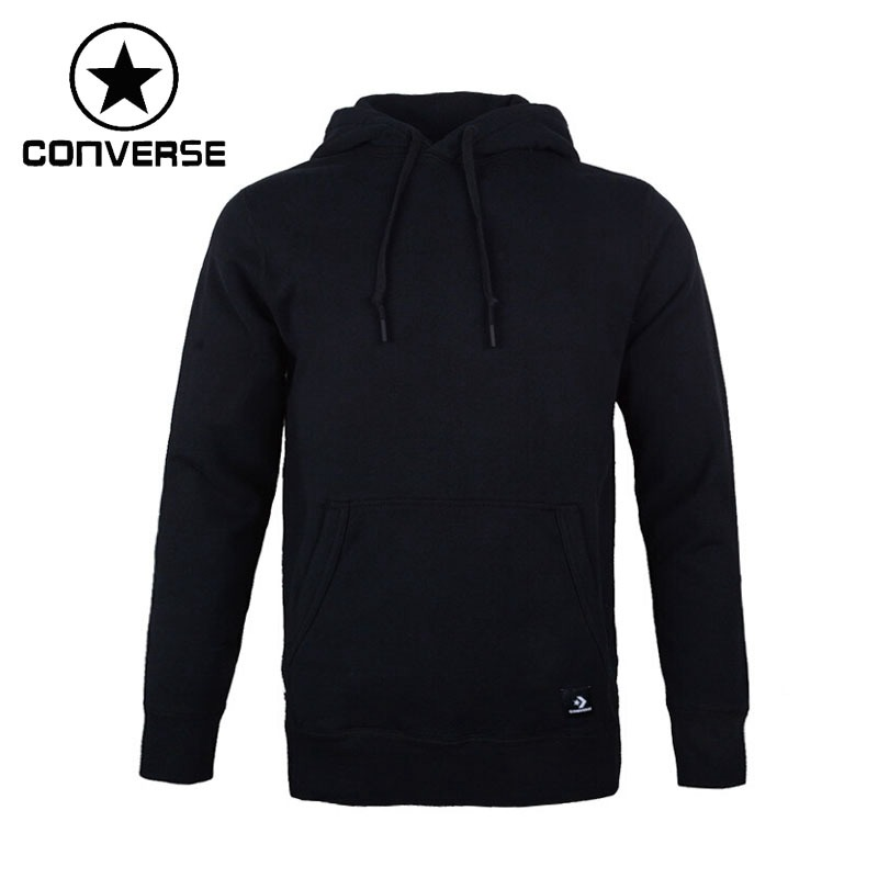 Original New Arrival 2018 Converse Essentials Pullover Hoodie Men's Pullover Hoodies Sportswear kangaroo pocket star embroidered drawstring pullover hoodie