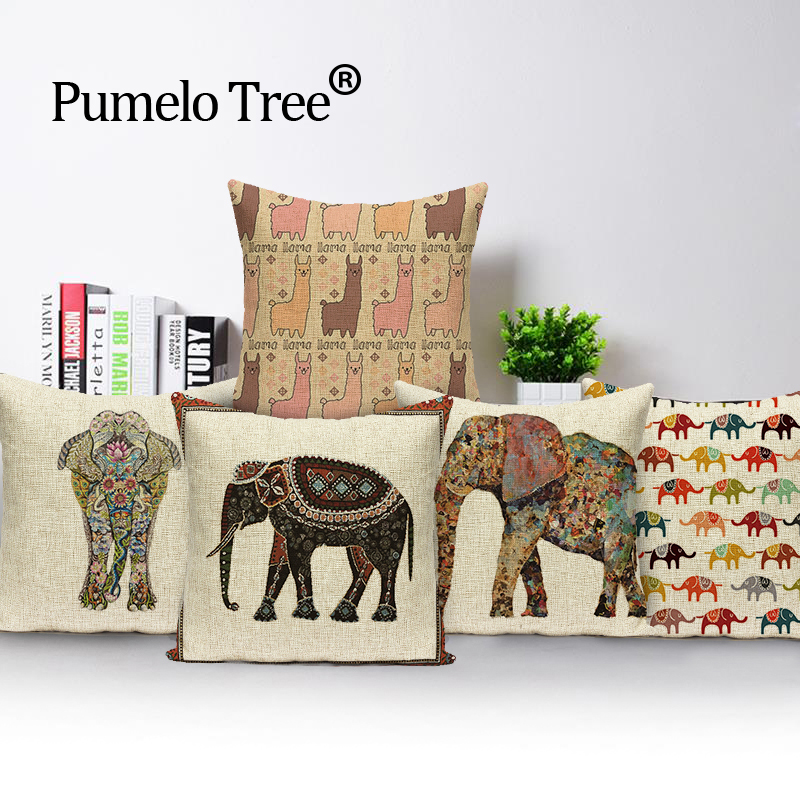 Elephant Kissenbezug Indian Cushions Home Decor Benutzerdefinierte Kissenbezug Elk Linen Outdoor Cushions Dropshipping Throw Pillows