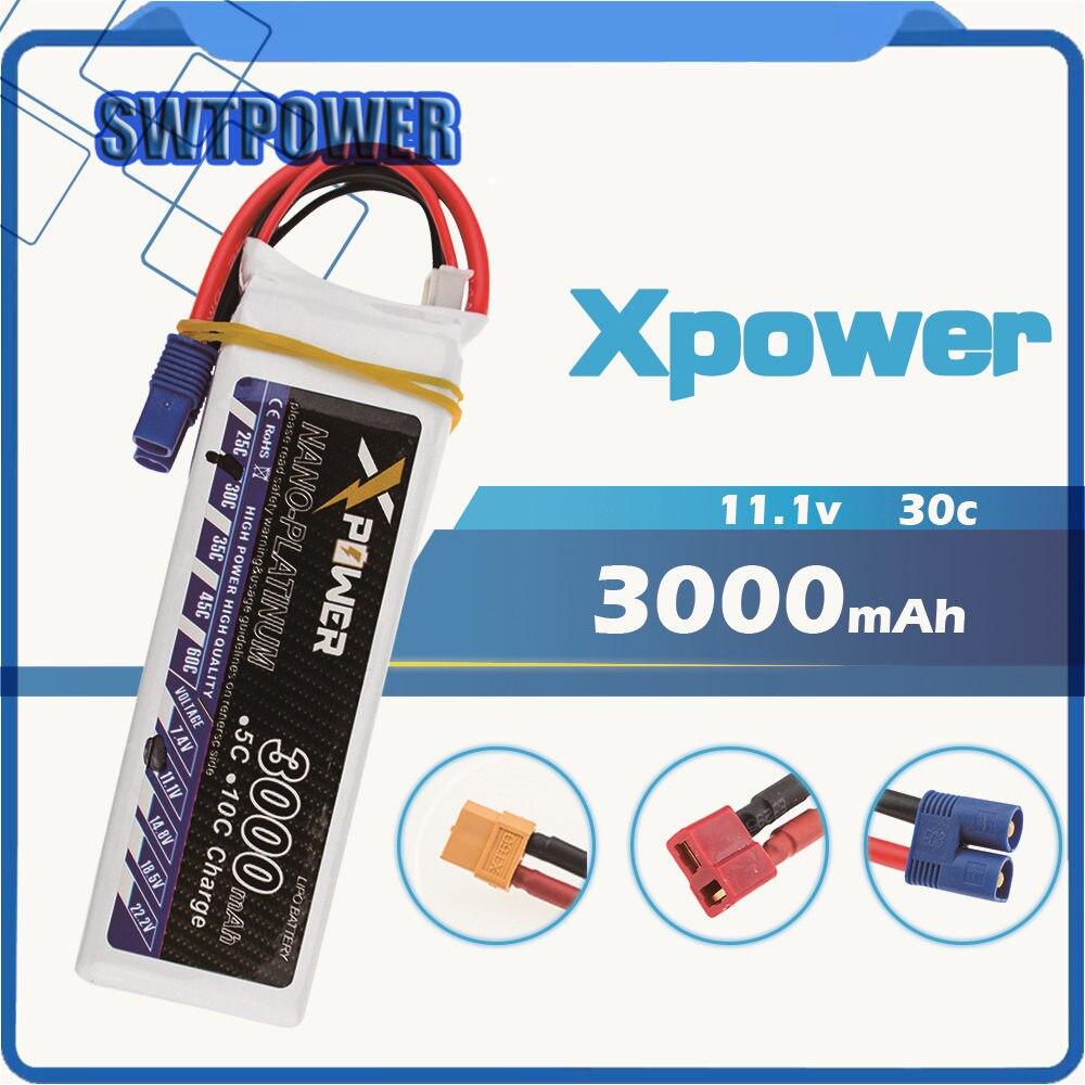11.1 v 3 s 3000 mAh lipo batterie 30C max 35C EC3 XT60 T plug batteries au lithium pour RC drone Helicoptes Avion pièces