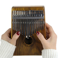 INITER 17 Key Kalimba Solid KOA African Thumb Piano Finger Percussion Keyboard Kids