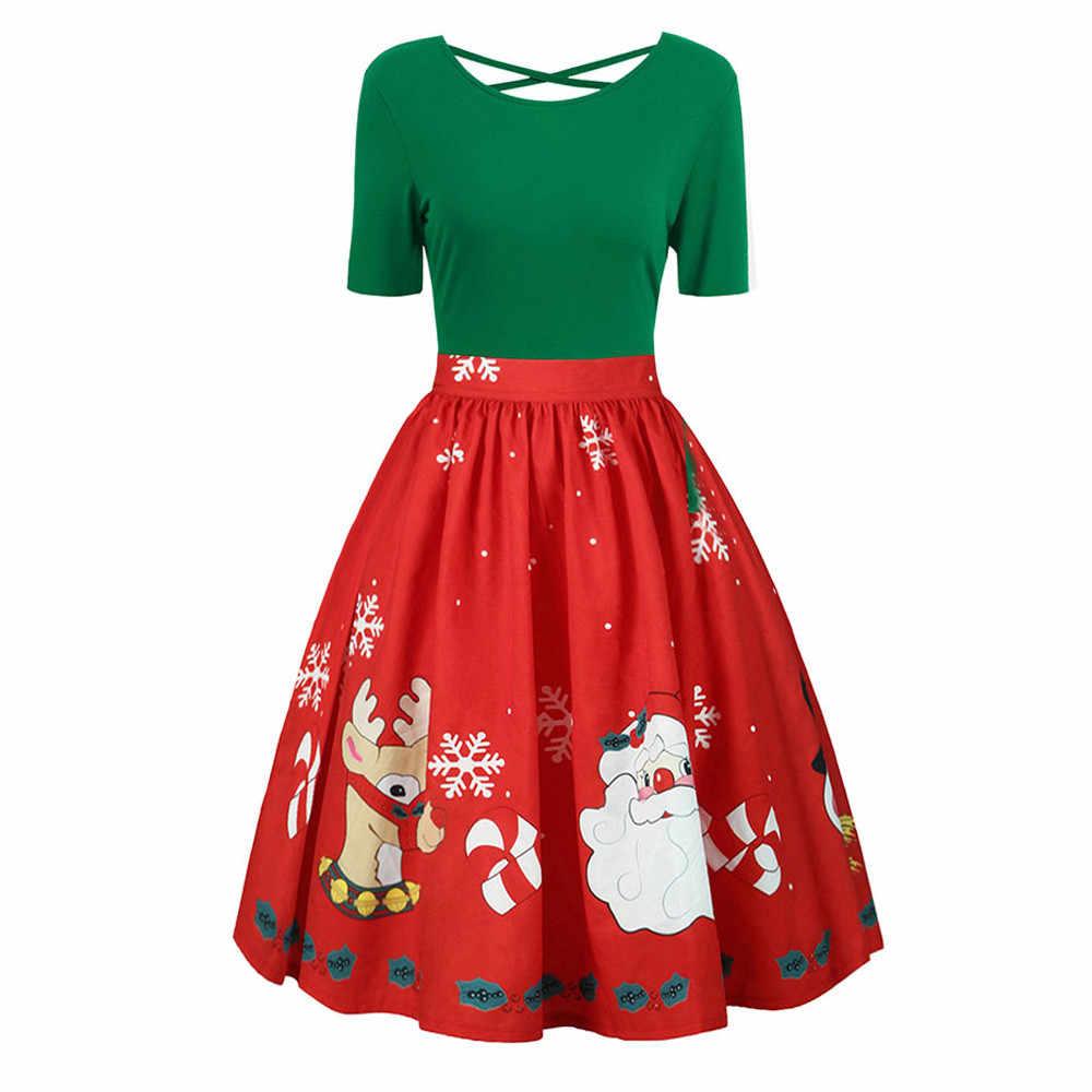 20137dd4336 ... Рождественское платье женские плюс Размеры 5xl модные рождественским  принтом вечерние мини-платья супер качество роковой ...