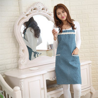 Kitchen Bib Aprons With Pocket For Women Shoulder Strap Style Waterproof