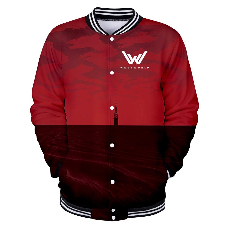 Women's Clothing West World 3d Print Baseball Jacket Hot Tv Show Men/women Funny Baseball Jacket Fashion Collage Preppy Style Xxs-4xl Clothes