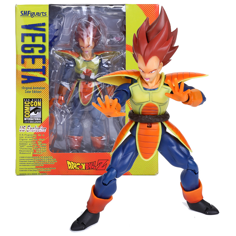 15cm SHFiguarts Vegeta Figure Anime Dragon Ball Z Super Vegeta PVC Action Figures Toys Collectible Model Toy With Retail Box