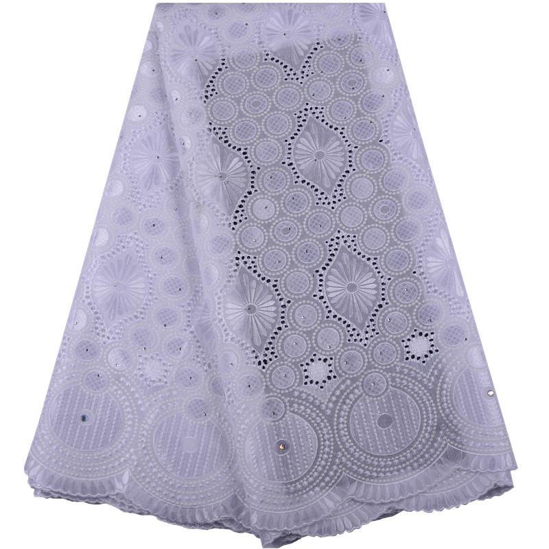 Delivery to USA within 5 days African Lace Fabric 2019 Swiss Voile Cotton Lace With Stones Swiss Voile Lace In Switzerland A1468