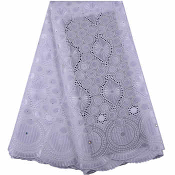 Delivery to USA within 5 days African Lace Fabric 2019 Swiss Voile Cotton Lace With Stones Swiss Voile Lace In Switzerland A1468 - DISCOUNT ITEM  34% OFF All Category