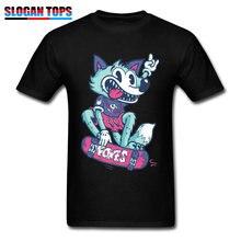 5999efd1718 Hip Hop T-Shirt Mens Tshirt Fashion Skateboard Skater Wolf Clothes 100%  Cotton Men Tops   Tees Birthday Short Sleeve T Shirts