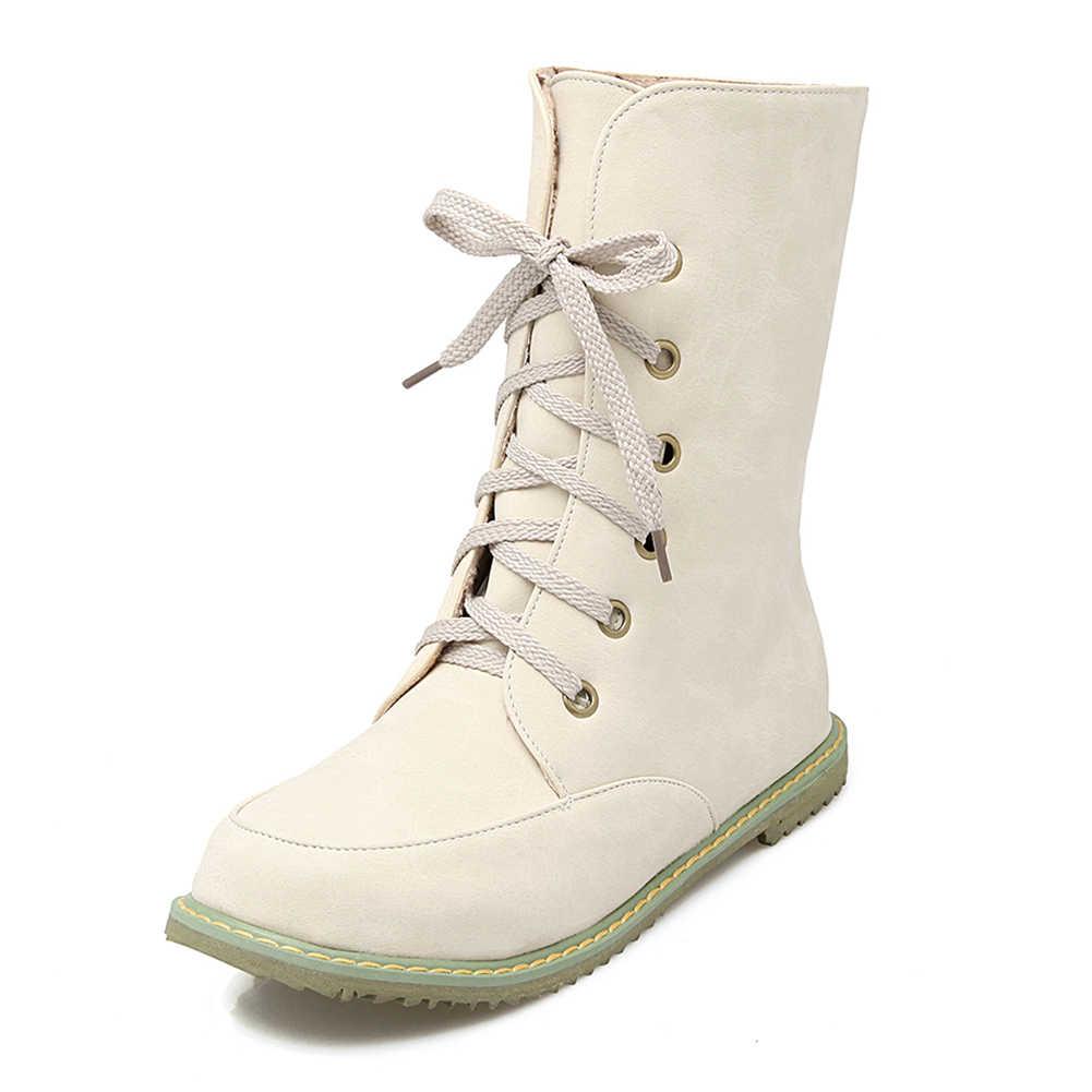 Doratasia Yeni Dropship Büyük Boy 30-52 Rahat Ayakabı Retro Rusya çizmeler kadın ayakkabıları Eklemek Peluş Kışlık Botlar Bayan Botları