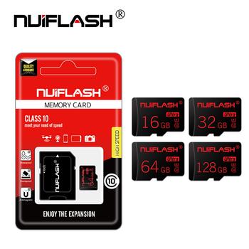 Nuiflash rzeczywista pojemność micro sd karty pamięci 8GB 16 GB 32 GB 64GB klasy 10 micro sd karty karty TF do telefonu tabletu pc wysokiej prędkości tanie i dobre opinie Standard NF-TF 02 Tf micro sd card