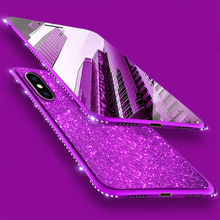 Rhinestone Glitter Frame Case for iPhone X 6 6S 7 8 Plus Cover Cute Diamond Phone Cases for Samsung S9 S8 S7 Edge Note 8 Fundas